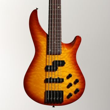 MB305 5-String Modern Rock Bass with Active EQ Honey Burst