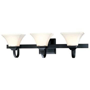 Minka-Lavery Agilis 3-Light Wall-Mount Sconce in Black