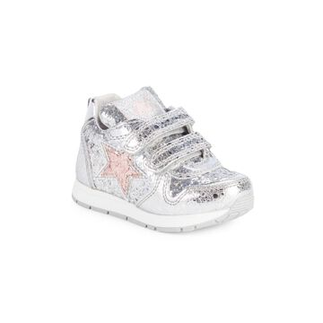 Baby's, Little Girl's & Girl's Naturino Star Metallic Sneakers