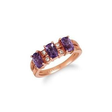 Le Vian  14K Strawberry Gold  Ring with Grape Amethyst  and Nude Diamonds