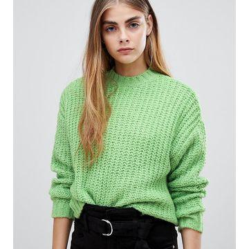 Bershka knitted sweater in green