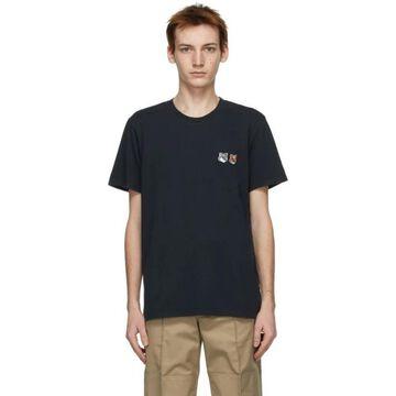 Maison Kitsune Black Double Fox Head Classic T-Shirt