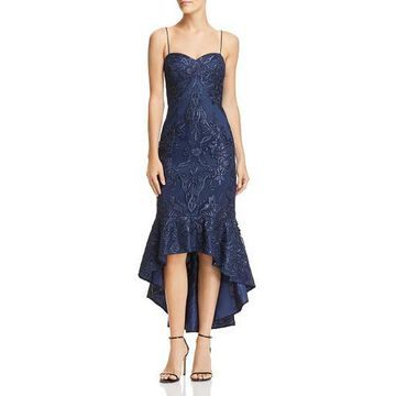 Aidan Mattox Womens Mermaid Sleeveless Midi Dress