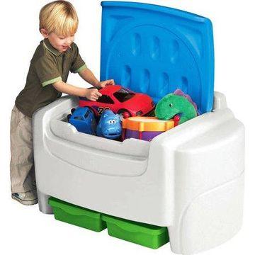 Little Tikes Sort 'n Store Toy Chest, White & Blue - Kids Toy Storage Chest