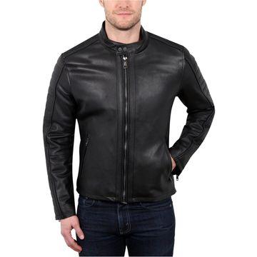 William Rast Mens Leather Motorcycle Jacket