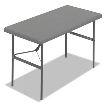 Iceberg Enterprises Indestructables Too 1200 Series Folding Table, 48w X 24d X 29h, Charcoal