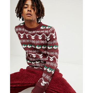 Another Influence Holidays Pattern Sweater