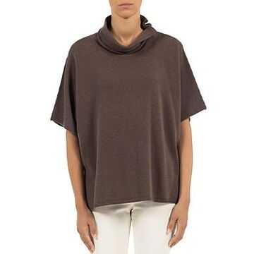 Peserico Funnel Neck Short Sleeve Sweater