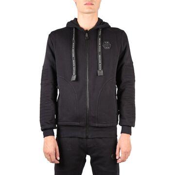 Philipp Plein Full Zip Cotton Sweatshirt With Hood