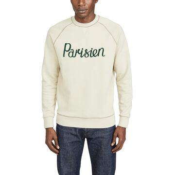 Maison Kitsune Long Sleeve Sweatshirt with Parisien Print
