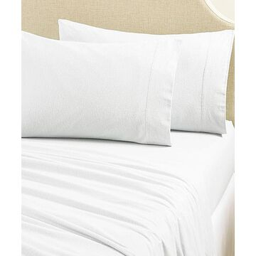 Home Fashion Designs Sheet Sets Winter - Winter White Cotton Flannel Sheet Set