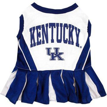 Pets First College Kentucky Wildcats Cheerleader, 3 Sizes Pet Dress Available. Licensed Dog Outfit