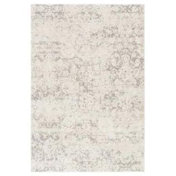 Cheyenne Abstract Grey and White Viscose Blend Area Rug