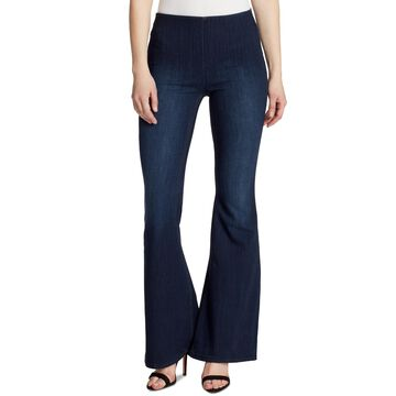 Flared Pull-On Jeans