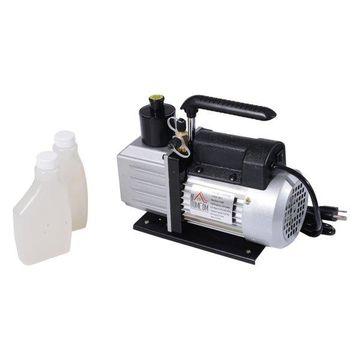 HomCom Single Stage 5 CFM Rotary Vane Vacuum Pump, Black/Silver