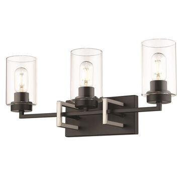 Golden Lighting Tribeca 3-Light Black Modern/Contemporary Vanity Light