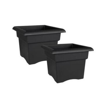 "Bloem Terra 14"" Window Box Saucer Tray, 2 Pack"