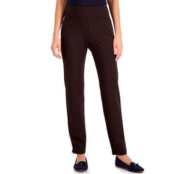 Charter Club Cambridge Petite Tummy-Control Ponte-Knit Pants, Created for Macy's