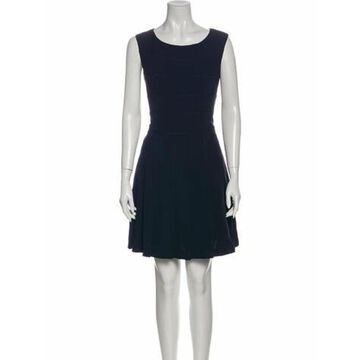 Scoop Neck Mini Dress Blue