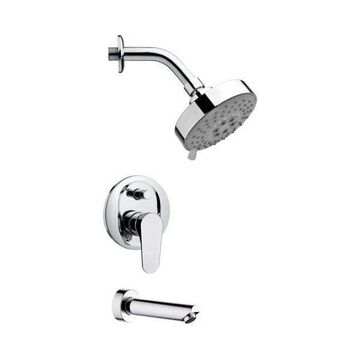 Nameeks TSF2204 Remer Double Handle Tub and Shower Faucet, Chrome