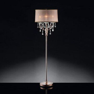 Ore International Inc. Rosie Crystal Floor Lamp