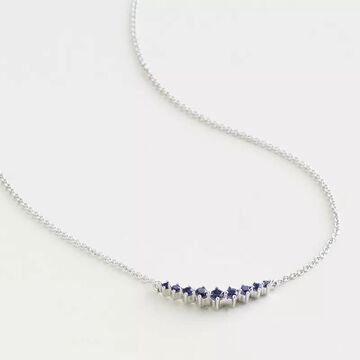 """Elizabeth and James Sterling Silver Lab-Created Blue Sapphire Bar Necklace, Women's, Size: 18"""""""