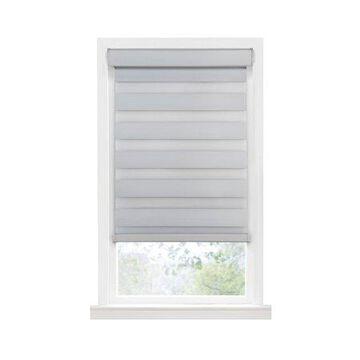 "Achim Celestial Indoor Cordless Oyster Polyester Room Darkening Window Zebra Shade, 72"" L x 29"" W"
