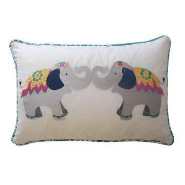 Waverly Kids Bollywood Elephant Oblong Throw Pillow