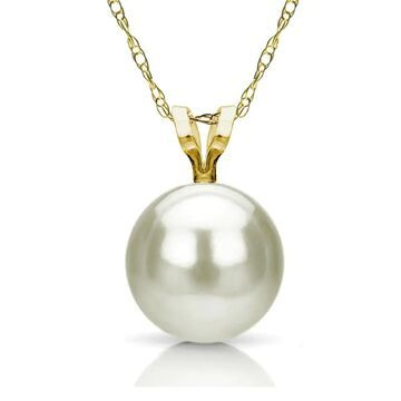 """DaVonna 14k Yellow Gold 8-8.5mm White Freshwater Pearl Pendant Necklace, 18"""" (Case of 3)"""