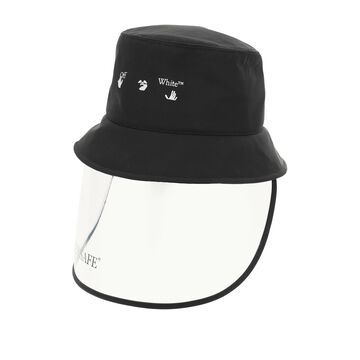 Off-white bucket hat with mask