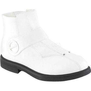Funtasma Men's Clone 102 Ankle Boot White Faux Leather