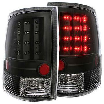 2015 Ford F-150 Anzo USA LED Tail Lights in Black, Tail Light Set - Tail Light Assembly - PN 311293