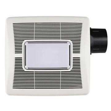 Broan InVent(TM) Series 1-Sone 80-CFM White Lighted Bathroom Fan   A80L