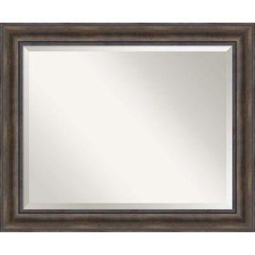 Amanti Art Large Bathroom Mirror in Rustic Pine