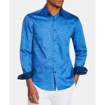 Men's Slim-Fit Paisley Shirt