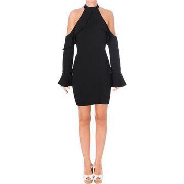 Bardot Womens Cold Shoulder Ruffled Cocktail Dress
