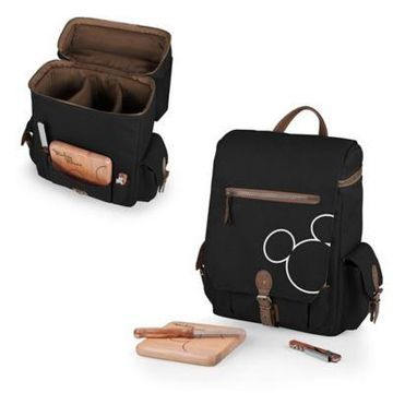 Picnic Time Mickey Mouse Moreno 3-Bottle Wine & Cheese Tote Black