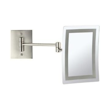 Nameeks Glimmer Wall-Mounted Square Led 3x Makeup Mirror Bedding