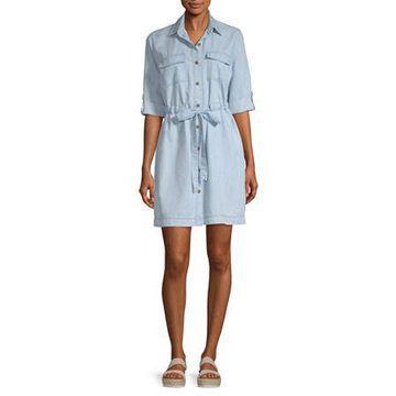 a.n.a Womens 3/4 Sleeve Shirt Dress