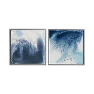 Madison Park Blue Lagoon 2-Pc. Framed Gel-Coated Canvas Print Set