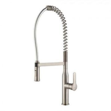 Kraus Nola Single Lever Commercial Style Kitchen Faucet - Stainless Steel