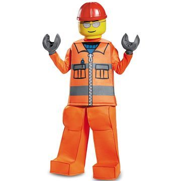 Disguise Construction Worker Prestige Child Costume-Large (10-12)