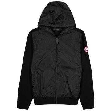 Windbridge black wool and shell jacket