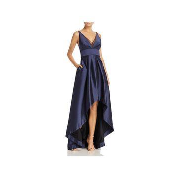 Aidan Mattox Womens Evening Dress Satin Hi-Low