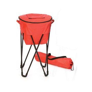 Tub Cooler, Black, Red