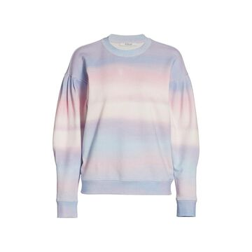 Derek Lam 10 Crosby Casey Watercolor Drop-Shoulder Sweatshirt