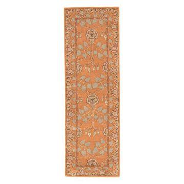 Jaipur Living Rodez Handmade Floral Orange/Taupe Area Rug, 2'6