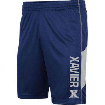 Colosseum Men's Xavier Musketeers Blue Grizzly Shorts