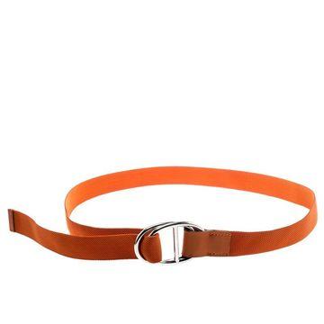 Hermes Orange Nylon Belt Size 112 CM