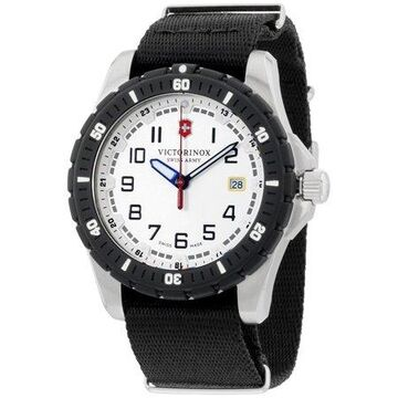 Victorinox Men's Swiss Army Analog Swiss Quartz Black Wrist Watch 241676.1